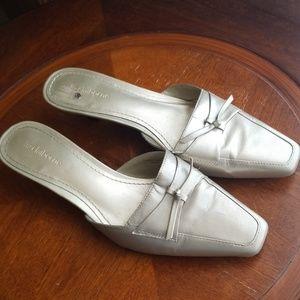 Liz Claiborne gold leather shoes